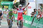 12. Etappe - Alexander Kristoff aus Norwegen (Katusha) erkämpft sich den Tagessieg in einem Duell gegen Peter Sagan (Cannondale) auf der Ziellinie in Saint-Etienne. (Foto: Sirotti)