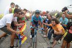 Nairo Quintana (Movistar), hier auf der 17. Etappe der Vuelta a Espana 2018, stellte seine Fahugkeiten und Erfahrung auf der letzten Etappe in seinem Heimatland auf der Tour Colombia 2.1 unter Beweis, als er auf der Konigsetappe zum Sieg fuhr. (Foto: Sirotti)