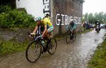 Vincenzo Nibali and his team-mates were supposed to inexperienced and vulnerable on the cobbles, but he proved his doubters wrong with a superb ride on the pave (pic: Bruno Bade/ASO)