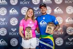 Gabriel Medina (BRA) and Carissa Moore (HAW) finalists at the Quiksilver and Roxy Pro France 2017, Hossegor , France