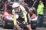 Rohan Dennis (BMC Racing) fährt beim Einzelzeitfahren der 16. Etappe des 101. Giro d
