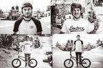 Tobias Freigang und Jason Pascher mit ihren Rädern