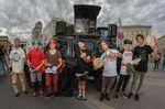 Die Gewinner des EX&HOP-Contests auf dem Streetlife Festival 2015 (v.l.n.r.): Moritz Steinröder (7.), Chris Haas (6.), Marvin Maiocchi (5.), Andi Wohnig (4.), Bobo Ujvari (3.), Michael Meisel (1.) und Simon Moratz (2.)