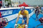 In den Jahren 1994, 1997 und 1998 war Chris Boardman bei der Tour de France in das Gelbe Trikot gehüllt.
