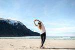 Trailrunning am Strand zum fit werden - Stretching
