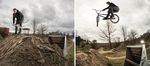 Auch für den BMX-Freestyle-Berater des UCI gilt: No dig, no ride! Bart de Jong an den Sugar Hill Trails in seiner Heimatstadt Aarle-Rixtel; Fotos: Aaron Zwaal