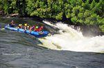 White water rafting Bujagali Falls, Uganda - White water rafting, a beginner