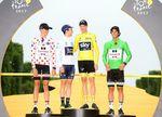 Tour de France 2017: Chris Froome während der Siegerehrung