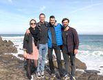 Das Surf Era Kernteam (v. l. n. r.): Valerie Sick, Eirik Randow, Marvin Thams, Niklas Groschup
