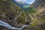 Trollstigen in Norway, one of the most dangerous roads in the world