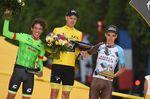 Das Podium der 104. Tour de France: Froome, Uran und Bardet (Foto: Sirotti)