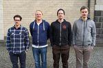Die Redaktion der letzten freedombmx-Ausgabe (v.l.n.r.): Daniel Weber (Grafik), Markus Wilke (Online), der unvergleichliche xmx (Chefredakteur) und Martin Mahlert (Sales)