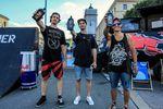Die Gewinner des EX&HOP-Contests auf dem Streetlife Festival 2016 in München sind (v.l.n.r.): Simon Moratz (3.), Miguel Franzem (1.) und Fabian Haugk (2.)