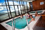 hot tub in ski resort relaxing