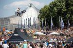 Daniel Dhers mit einem 360 Double Tailwhip beim Munich Mash 2017