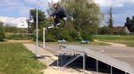 Entspannt und stilsicher: Sven Avemaria zerlegt im Auftrag des kunstform BMX Shops Streetspots und Skateparks rund um den Bodensee.