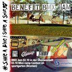 Save the Date! Am 2. Oktober 2021 schmeißt die Share A Bike/Share A Smile einen Benefizjam im Bowl des Überseestadt-Skateparks in Bremen.