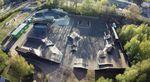 Der Schlachthof BMX- und Skatepark in Flensburg aus der Vogelperspektive