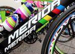 Das komplette Bike ist in weltmeisterlichen Farben getaucht. Klar, wer den Weltmeister in seinem Team hat, will das auch zeigen.