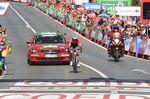 Alberto Contador fuhr einen starken Angriff und konnte sich gegenüber dem Feld behaupten. (Foto: Sirotti)