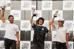 Die Gewinner des Regional Qualifier beim VANS BMX Pro Cup in Waiblingen sind (v.l.n.r.): Zdenda Pesek (2.), Cauan Madona (1.) und Jay Dalton (3.)