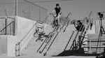 Der 16jährige Johnny Atencio springt in seinem Welcome-Edit für Shadow und Subrosa Rails an, die mehr Stufen als er Lenze auf dem Buckel haben. Dickes Ding!