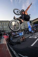 Fabian Haugk, Nohander to Fakie auf dem EX&HOP Contest Streetlife Festival 2016 in München