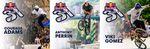 V. l. n. r.: Stargast Nummer 1, Stargast Nummer 2 und der Veranstalter des Red Bull 3EN1 BMX Jams: Viki Gomez, seines Zeichens Flatlandweltmeister