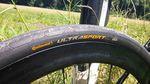 Die 32 mm Continental Ultra Sport Bereifung lässt das Eddy Merckx Strasbourg 71 nicht nur super rollen, sie sorgt auch für ein extrem komfortables Fahrgefühl.