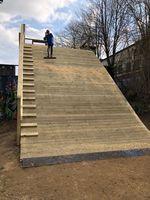 Die neue Anlauframpe für die Dirtline im Schlachthof Skate und BMX Park Flensburg