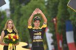 Für den jungen Holländer war der ikonische Etappensieg auf der Champs-Elysees sein erster Tagessieg bei der Tour de France. (Foto: Sirotti)