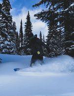 Sun Peaks, Treeruns, Snowboard, Kanada, Freeride