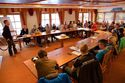 Gut 2/3 der Teamfahrer von Kirchmair Cycling nahmen am Kick-off Meeting teil - dazu kamen etliche Pressevertreter und Sponsoren.