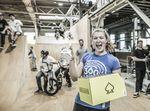 Lotta Grüber bei der Preisverleihung der Ride Further Tour 2018 im Skills Park