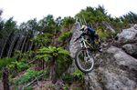 Boulderdash, Whakarewarewa Forest, Rotorua. Rider: Keegan Wright - Giant NZ. Photo: John Colthorpe, Eivomedia