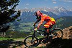 Marcus Klausmann und das Bergpanorama - ob er wohl Zeit hatte das zu genießen?