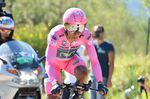 Nairo Quintana versuchte sich in Schadensbegrenzung, aber die Führung ging ganz klar an Tom Dumoulin (Bild: Sirotti)