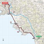 Die Route der 8. Etappe führt wieder am Tyrrhenischen Meer entlang, bis in Salerno ein Knick ins Landesinnere gemacht wird.