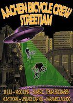 SAVE THE DATE! DieAachen Bicycle Crew lädt am 31. Juli 2021 zum Streetjam in ihre Heimatstadt ein. Weitere Infos findest du hier.