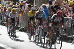 14-07-2017 Tour De France; Tappa 13 Saint Girons - Foix; 2017, Uae - Fly Emirates; 2017, Ag2r La Mondiale; 2017, Team Sky; Meintjes, Louis; Bardet, Romain; Aru, Fabio; Kwiatkowski, Michal; Froome, Christopher; Foix;
