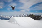 Snowboarder Rowan Biddiscombe backside rodeo