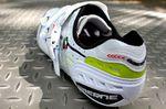 Gaerne Carbon G Platinum road shoe London 2013, heel cup, pic: Timothy John, ©Factory Media