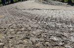 Schlamm auf den berüchtigten Passagen wie hier bei Troisvilles a Inchy machte den Fahrern dieses Jahr zu schaffen und sorgte für einige schwere Stürze. (Foto: Sirotti)
