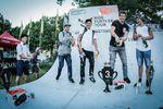Die Gewinner des 2. Laufs der Ride Further Tour 2017 auf dem Modular Festival in Augsburg sind (v.l.n.r.): Sergio Layos (1.), Adrian Malmberg (4.), JB Peytavit (3.) und Jonas Lindermair (2.)