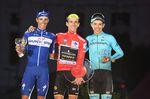 16-09-2018 Vuelta A Espana; Tappa 21 Alcorcon - Madrid; 2018, Mitchelton - Scott; 2018, Quick Step - Floors; 2018, Astana; Yates, Simon; Mas, Enric; Lopez Moreno, Miguel Angel; Madrid;