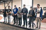 In der Amateurklasse gab es Einkaufsgutscheine für den kunstform BMX Shop zu gewinnen. Hier sind die Gewinner (v.l.n.r.): Foto: Smail Mast