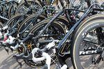Es ist nicht schwer Fabian Cancellaras Maschine unter der Trek Factory Racing Domane-Flotte für Paris-Roubaix zu entdecken.