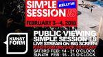 Am 3. und 4. Februar findet im kunstform BMX Shop ein Public Viewing des Livestreams von den Vor- und Finalläufen der Simple Session 2018 statt.