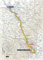 Tour de France 2017, 7. Etappe: Troyes – Nuits-Saint-Georges. (Quelle: Geoatlas)