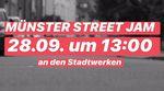 Am Samstag, dem 28. September 2019 steigt der alljährige Streetjam in Münster. Los geht es um 13:00 Uhr an den Stadtwerken. Alles Weitere erfährst du hier.